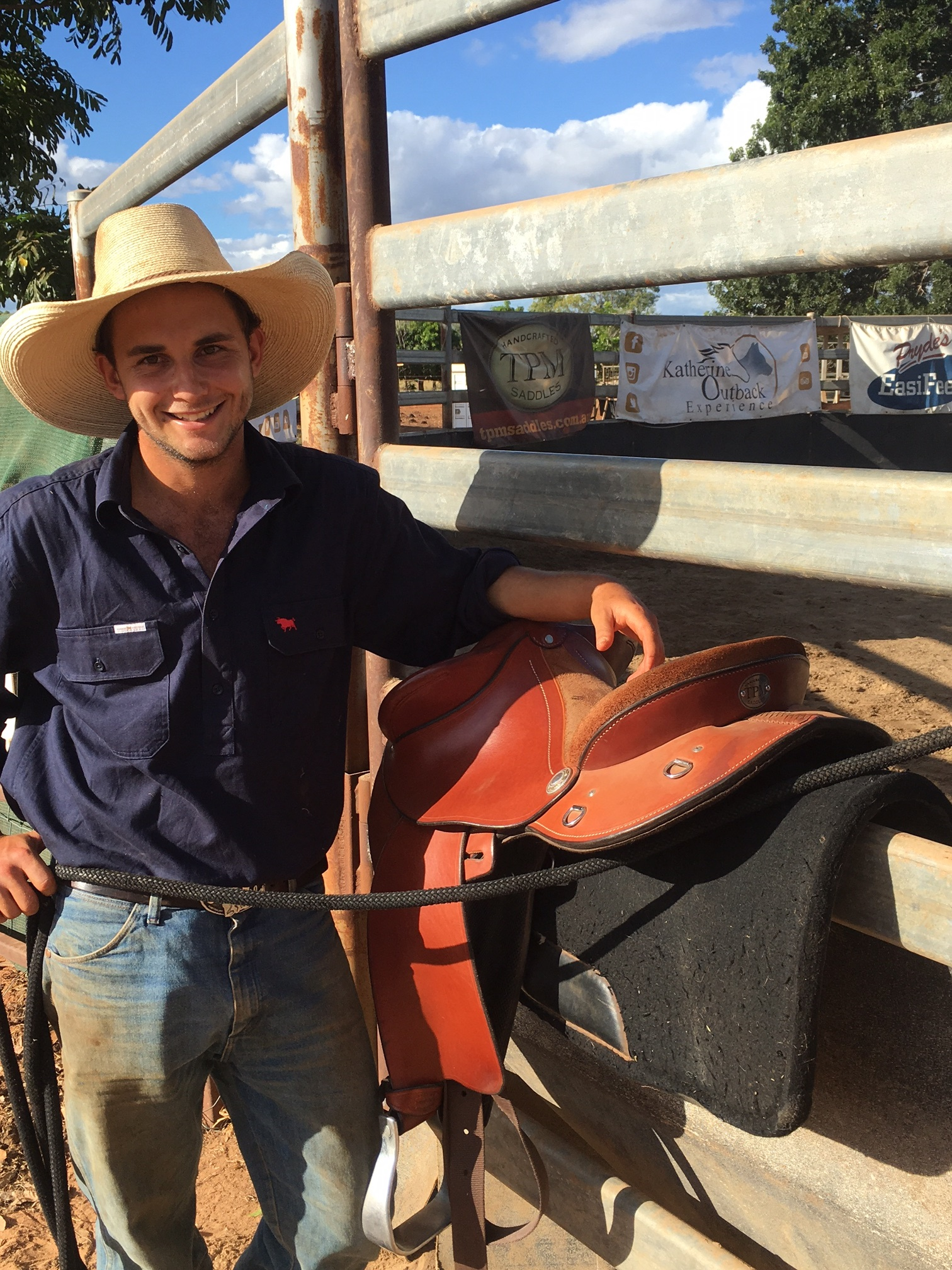 Brad of Katherine Outback Experience with his TPM Saddle