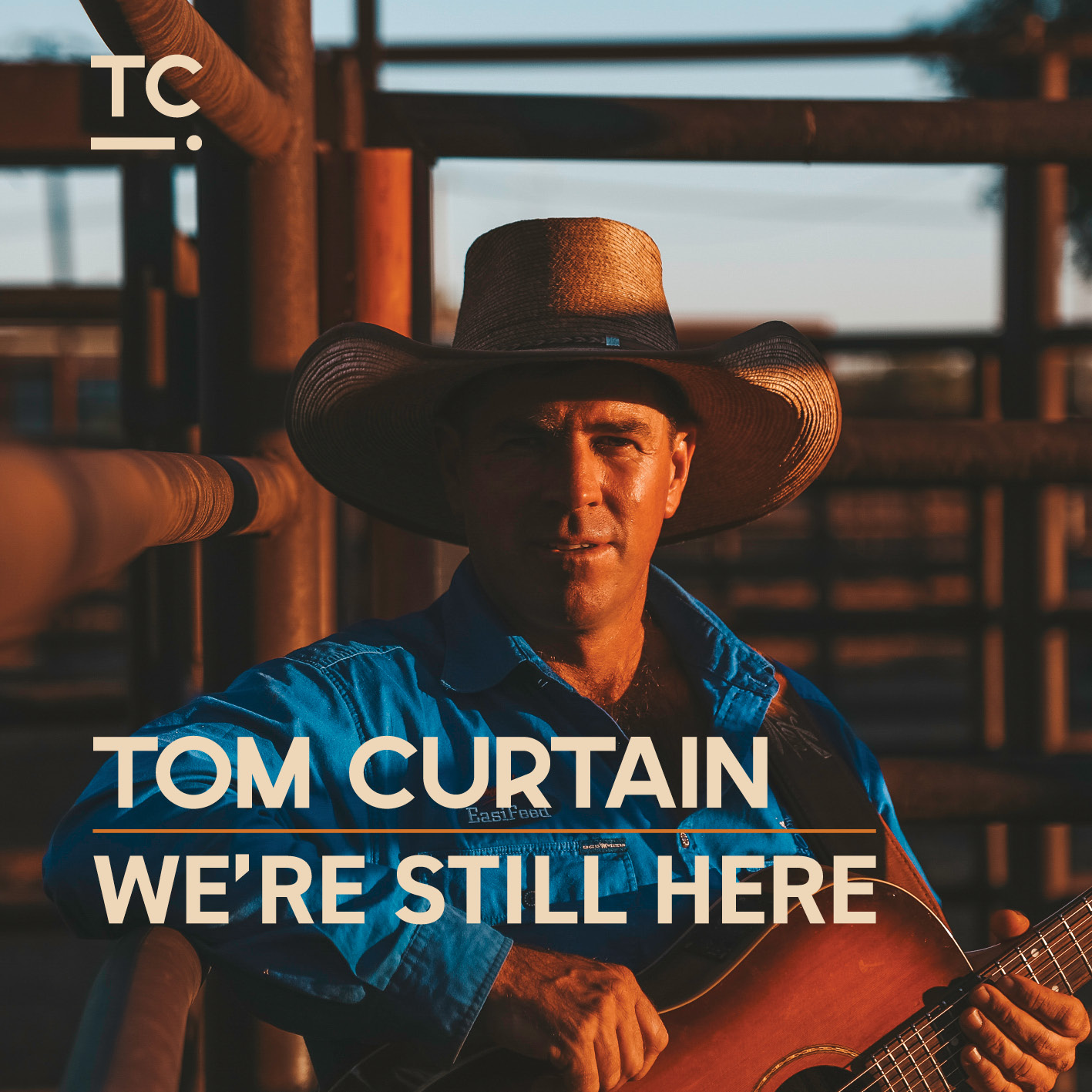 We're Still Here is Tom Curtain's fourth album produced by Garth Porter of Rancom St Studios